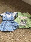 Ameican Girl Kit's Blue Plaid Dress And Extra Outfit