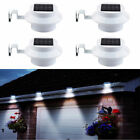 4Pc 4 LED Solar Powered Gutter Light Outdoor/Garden/Yard/Wall/Fence/Pathway Lamp