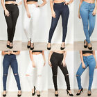 NEW WOMENS LADIES HIGH WAISTED STRETCHY SKINNY JEGGINGS JEANS Size 6-20