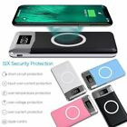 500000mAh 2 USB LCD LED Power Bank Qi Wireless Charging Portable Battery Charger