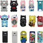 For Samsung Galaxy S6 S7 S8 + N8 Hot 3D Cartoon Silicone Soft Back Case Cover AA