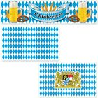 Oktoberfest Party Dekoration Deko Bayern Bavaria Wiesn Flagge XXL blau weiss Set