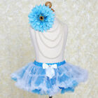 Blue TUTU SKIRT with Stars and Snowflakes GIRLS Dance Petticoat Costume SALE