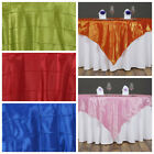 """15 pc 60x60"""" Pintuck TABLE OVERLAYS Wedding Linen Supply Wholesale Decorations"""