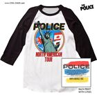 The Police '83 North American Concert Tour T-Shirt / 80s Retro New Baseball Tee image