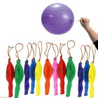 10X Large Punch Balloons with Elastic Multi Coloured Loot Bag Party Fillers Toys
