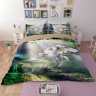 3D Dream UNICORN Bedding Set Duvet Cover Pillow Sham Quilt Cover Animal Print