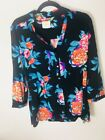 Maeve Anthropologue Womens Large Floral Colorful Blouse