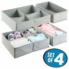 mDesign Fabric Baby Nursery Closet Organizer for Clothes, Towels, Socks, Shoes