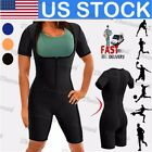 US Neoprene Sauna Waist Trainer Trimmer Sweat SUIT Corset Bo