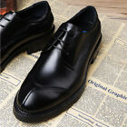 New Summer Mens Retro British Casual Lace Up Business Dress Fashion Formal Shoes