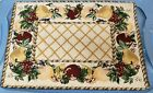 """Set of 3 Tapestry KITCHEN Placemats, 13"""" x 19"""", FRUITS FRAME # 1 by NIDICO"""
