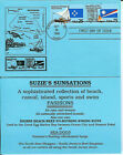 Federated States Micronesia + Marshall Islands Attched Pair FDC on Blue Card!