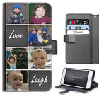 PERSONALISED PHOTO PHONE CASE CUSTOM LEATHER FLIP COVER FOR SAMSUNG S7/S8/S9 +