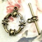8 style 20-150pcs Antique Brass Bar Ring Toggle Clasp Metal Connector Findings