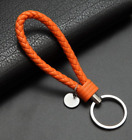 Car Keychain Leather Rope Strap Weave Keyring Key Chain Ring Key Fob Gift New
