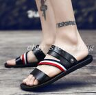 mens soft Pu Leather Slipper Sandals SHoes Hiking beach Roman Style strap size