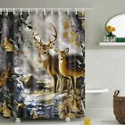 Bathroom Fabric Shower Curtain Include 12 hooks Set Water Resistant Multichoice