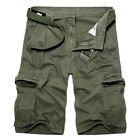 Men's Summer Casual Military Army Combat Camo Overall Shorts Cargo Sports Pants