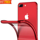 For iPhone 7 Plus 8 Plus XR Red Case Crystal Clear Slim Soft iPhone 7 8 X Cover