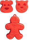 Mason Cash Bakeware Large Red Silicone Cake Mould Gingerbread Man Cat Dog