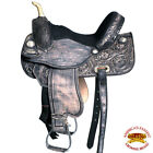 U-O-VX Hilason Western Flex Tree Barrel Racing Trail Riding Horse Saddle Black