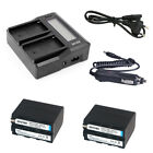 Dual Faster Charger with LCD Display  7200mAh NP-F970 NP-F960 Battery for Sony