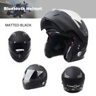 Motorcycle Bluetooth Helmet Bike Dual Visor With Built-In Intercom 500M+FM Audio