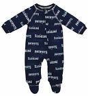 OuterStuff NFL Infant New England Patriots Raglan Zip-up Coverall Sleeper, Navy
