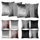 Set of 4 Cushion Covers Diamante Sparkle Crushed Velvet Bling Cover Collections
