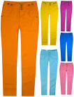 Ladies New Stretchy Jeans Womens Coloured Trousers Jeggings Fit Pants 6 10 12 14