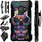 For Samsung Galaxy Phone Case Holster Kick Stand Cover TATTOO SKULL LuxGuard