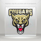 Decal Sticker Cougars Helmet Motorbike Door polymeric vinyl Garage st7 26523