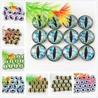 8-30mm 18 colors for Choice Glass Eye Dragon Cat Eye Cameo Cabochons for Jewelry