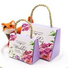 50pcs Butterfly Flower Wedding Favors Gift Boxes For Romantic Wedding Banquet
