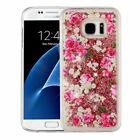 Samsung Galaxy S7 /Edge Bling Hybrid Liquid Glitter Rubber Protective Case Cover