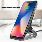 For iPhone X Samsung Galaxy S8 Wireless Qi Fast Charger Charging Dock Pad