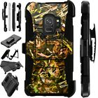 For Samsung Galaxy Phone Case Holster Stand Cover CAMO FOLIAGE BROWN LuxGuard