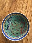 Antique Chinese Porcelain Turquoise Dragon Bowl Marked