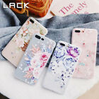 LACK Fashion 3D Relief Flowers Phone Case For iphone X Case For iphone 7 6S 6 8