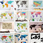 Various Colorful World Map Removable Vinyl Decal Wall Sticke