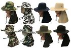 Boonie Fishing Hiking Army Military Ear Long Flap Snap Bucket Neck Cover Hat 2