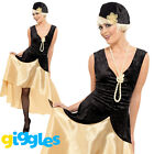 Gatsby Girl Costume 1920s Charleston Flapper Womens Ladies Fancy Dress Outfit