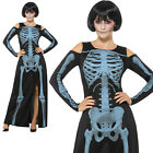 X-Ray Skeleton Costume Halloween Scary Womens Ladies Adult Fancy Dress Outfit