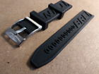 Strap for Breitling Watch Black Rubber Silicone Band With Clasp Buckle 22mm 24mm