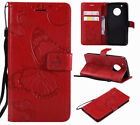 For Motorola Moto G4 G5 G6 E4 Leather Flip Wallet Magnetic Card Stand Case Cover