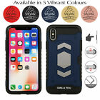 For iPhone & Samsung Protective Card Slot Armour Case Shockproof Armoured Cover