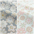 Kringles Sweetshop, frosted snowflakes pink or silver 100% cotton per 1/2 metre