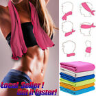 2PCS Instant Cooling Towel ICE Cold Golf Cycling Jogging Gym Sports Outdoor USA image