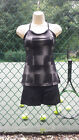 Athletic DNA ~ Women's Tennis Top ~ Black and gray ~ XS ~ NWT ~ FREE SHIP